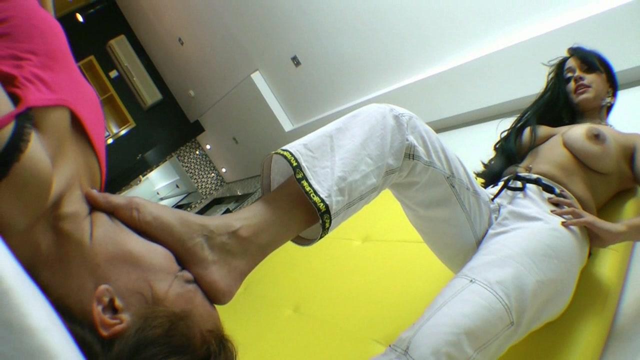 Karateka Girl Angelina Dayer Foot Submission