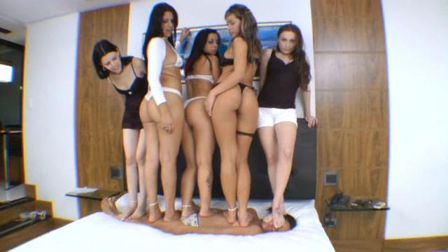 Trampling Championship: 4 Dominatrix 3 Slave Girls Pt 2