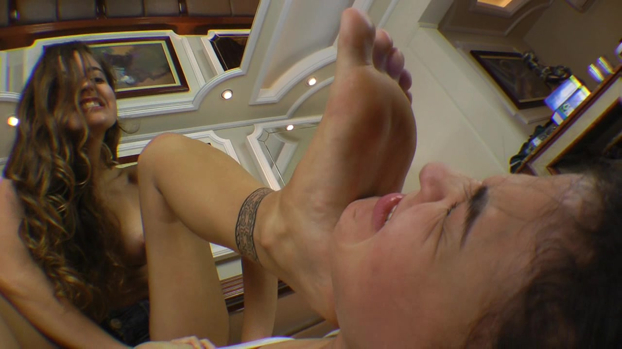 Feet Fight Mistress Rebecca Defeat Two Girls