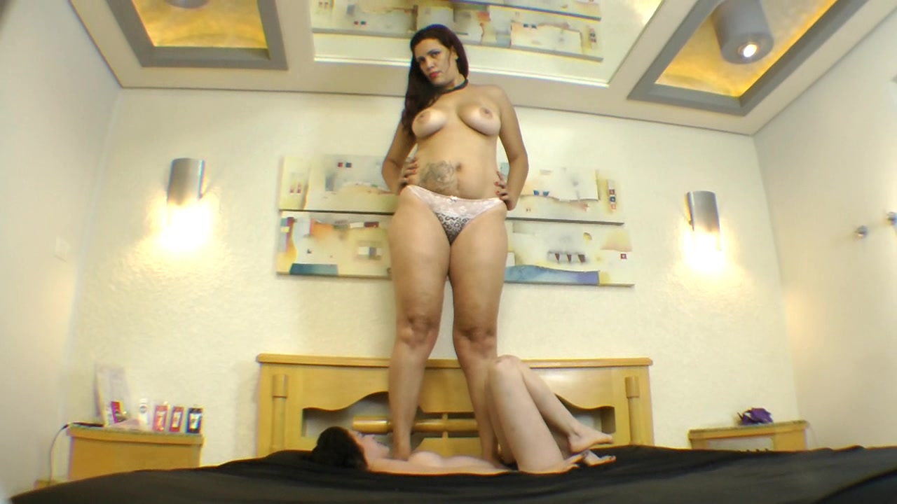Adrina Giant Big Feet Trampling Thin Slave
